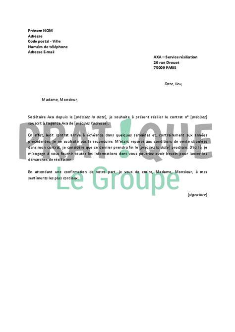 axa adresse si鑒e lettre de r 233 siliation axa pratique fr
