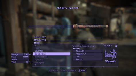 Modification Weapons by Any Mod Melee And Unarmed Weapons Fallout4 Mod