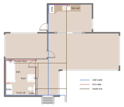 plumbing floor plan how to create a residential plumbing plan plumbing and piping plans how to use house