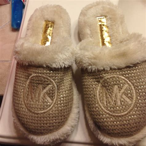 gold house slippers 17 off michael kors shoes michael kors gold house slippers from mary s closet on