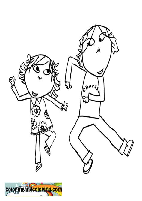 charlie and lola coloring book coloring pages