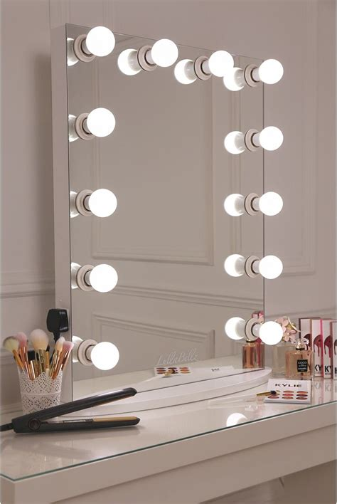 makeup table with lights lullabellz glow vanity mirror led bulbs this is