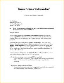 letter of understanding templatereference letters words