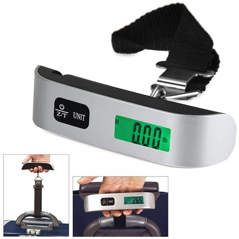Timbangan Gantung Mini Portable Hanging Digital Scale 50 Kg Murah aliexpress buy portable hostweigh ns 14 lcd mini luggage electronic scale thermometer 50kg