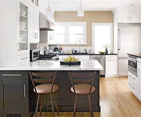 two colour kitchen cabinets two tone cabinets contemporary kitchen bhg