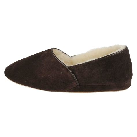 mens leather sheepskin lined slippers morlands mens sheepskin suede leather warn wool lined