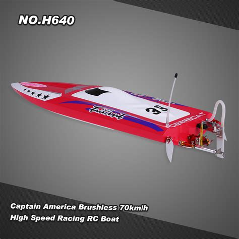 Rc Captain America no h640 captain america brushless rc racing boat 70km h