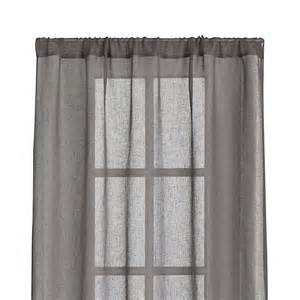 Sheer Grey Curtains Linen Sheer Grey 52 Quot X96 Quot Curtain Panel Crate And Barrel