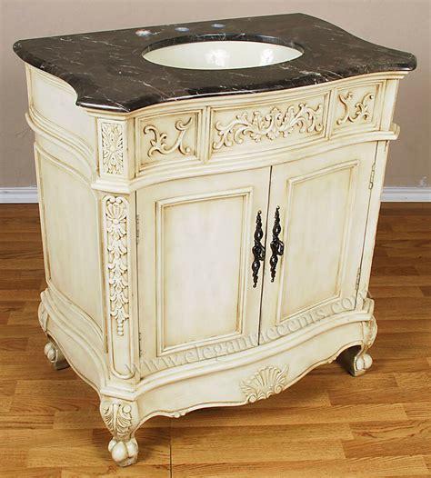 Antique Bathroom Vanity Units by 33 Quot 2 Door Antique White Bathroom Vanity Sink Cabinet Ebay
