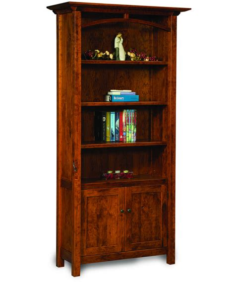 artesa bookcase with doors amish direct furniture
