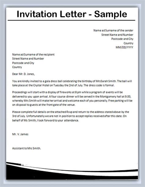 Invitation Letter For Visa Conference How To Write An Invitation Letter Sles