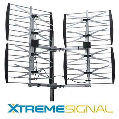 xtreme signal 8 bay bowtie outdoor hdtv antenna 70 mile vhf uhf hdb8x from solid signal