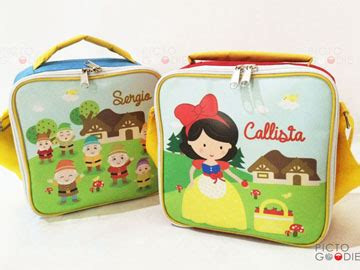 Lunch Bag Print Bordir Nama Anak tas lunch bag small size hadiah ultah pictogoodie