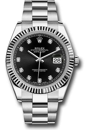 Rolex Date Just Wg For rolex 126334 bkdo datejust 41 steel wg fluted bez oyster