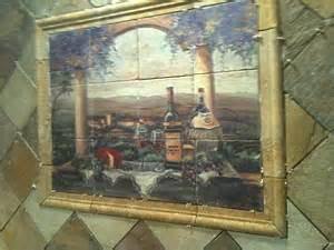 tuscan stone kitchen backsplash tile mural creative arts pictures pin pinterest