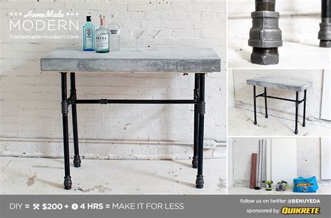 How To Make A Bar Table by Modern Ep40 Concrete Iron Side Table