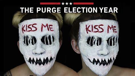tutorial de kiss me kiss me purge mask halloween sfx makeup tutorial the
