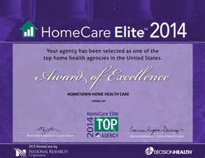 elite home health hometown home health hospice 187 homecare elite 2014