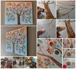 How To Make Wall Decor At Home how to make button tree wall art pictures photos and images for