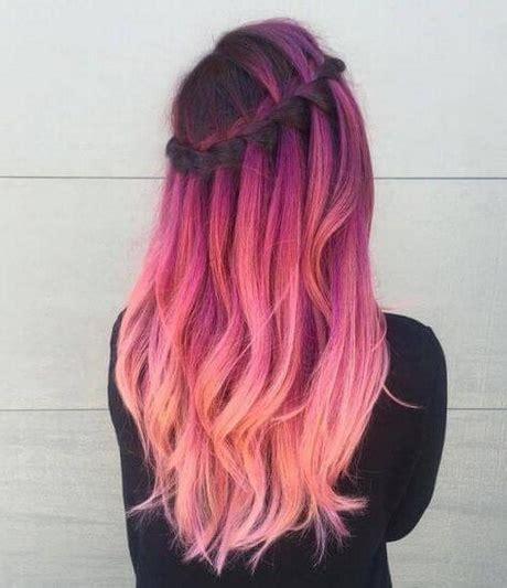 modelos de colores para cabello peinados de colores