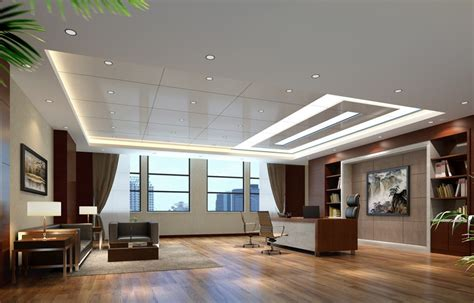 modern ceo interior design with ceiling design for modern