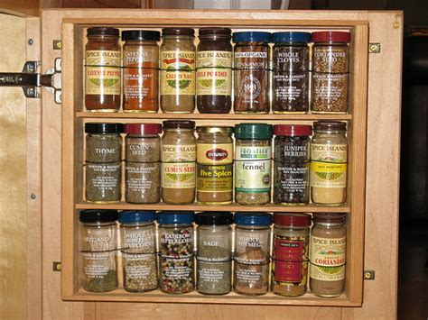 Kitchen Spice Racks For Cabinets by Spice Rack Inside Kitchen Cabinet Door Paleotool S Weblog