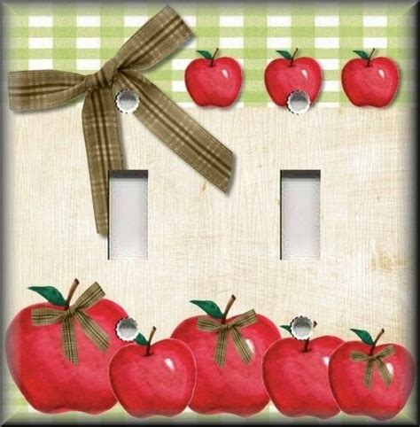 light switch plate cover country kitchen apples home decor apple decor ebay