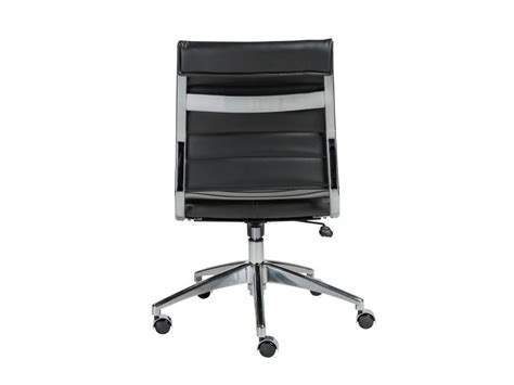 south hill design back office axel low back office chair armless in black design by euro