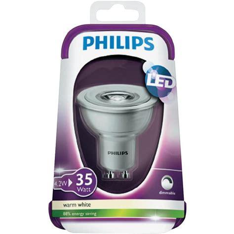 Lu Led Philips Warm White led monochrome philips 230 v gu10 4 5 w 35 w warm white att calc eek a reflector bulb