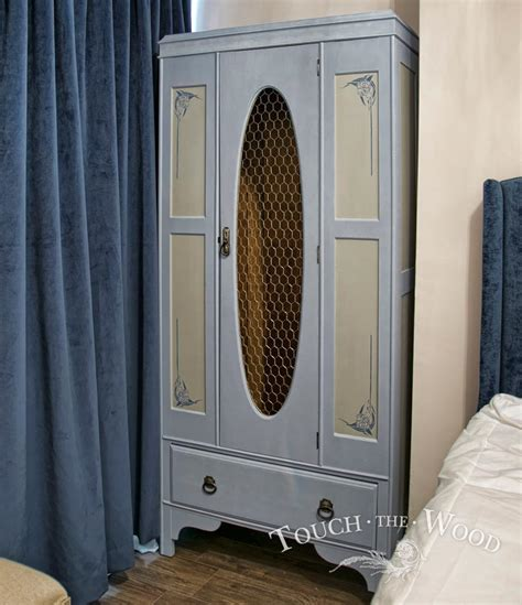 shabby chic wardrobe with wire mesh no 06 touch the wood