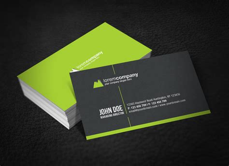 uprinting business card template 30 minimalist business card designs that pack a punch