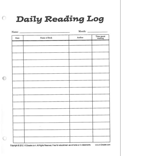 4th grade reading log template ms lippincott s fourth grade class reading log