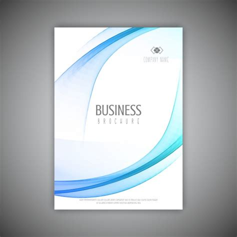 business prospectus template business brochure template with flowing lines design