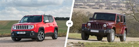 Jeep Vs Wrangler Jeep Renegade Vs Wrangler Which Is Best Carwow