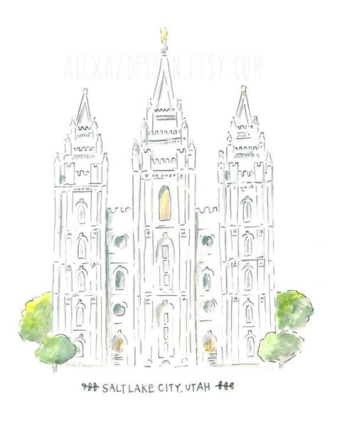 salt lake temple simple coloring pages