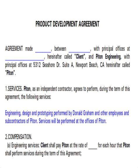 development agreement contract 7 development agreement contract sle exles in