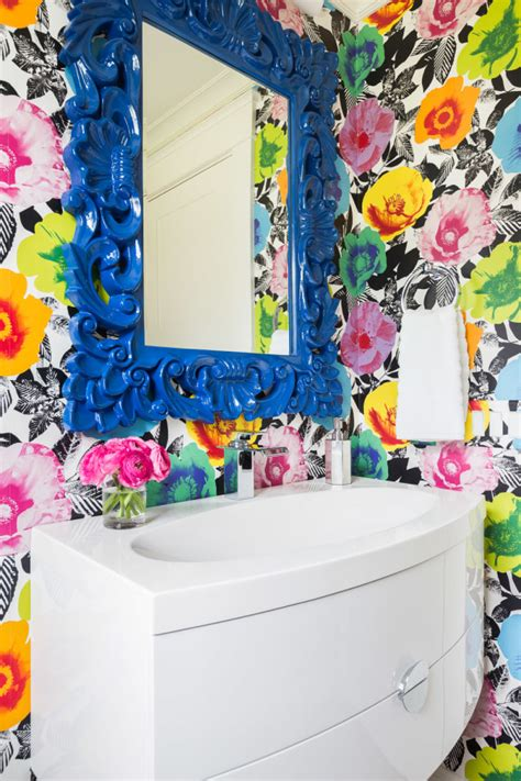 colorful wallpaper for bathroom 25 awesome rooms with colorful wallpaper