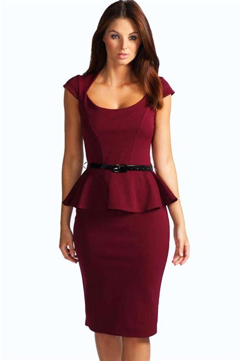 ebay womens dresses boohoo womens keeley peplum belted midi dress ebay
