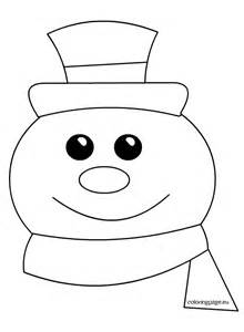 Pin snowman snowflakes coloring pages pictures on pinterest