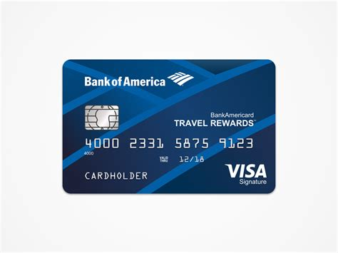 bank card design template bank of america travel rewards card template free sketch