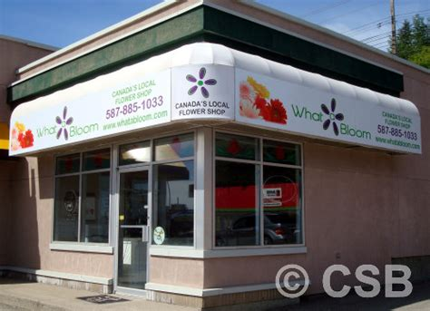 awnings calgary calgary commercial awnings and overhangs fabrication