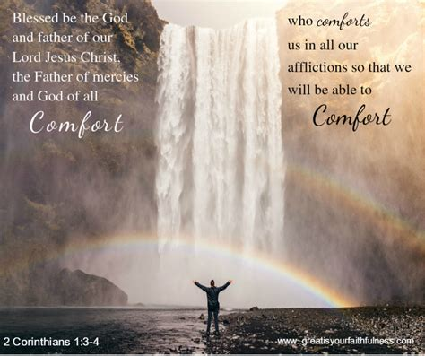 comfort from the lord where do you turn for comfort great is your faithfulness