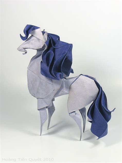 Folded Paper Animals - difficult folding technique allows this