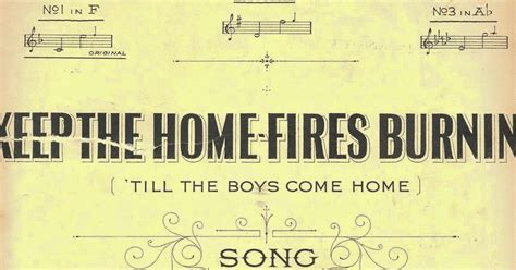 she keeps the home fires burning she keeps the home