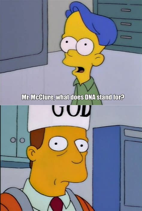 mr mcclure what does dna stand for thesimpsons