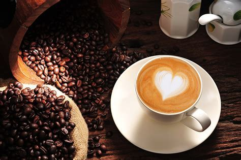 Images Valentine's Day Heart Coffee Cappuccino Grain Cup