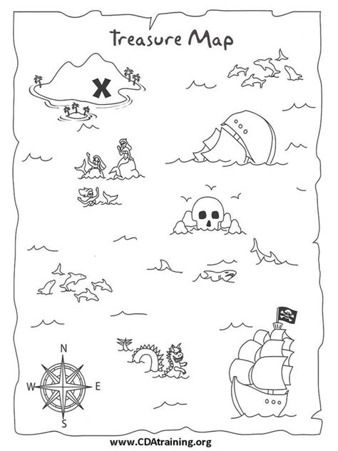 treasure map template 123 play and learn child care basics resources