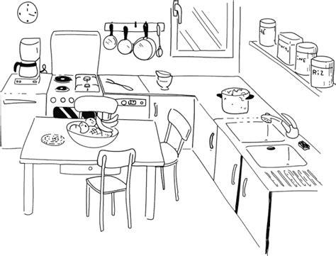 dessin evier cuisine dididou coloriage la cuisine page 3