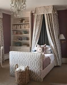 Bedroom Canopy Fabric Gray And Purple S Room Traditional S Room