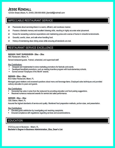 Catering Manager Resume by Attractive But Simple Catering Manager Resume Tricks